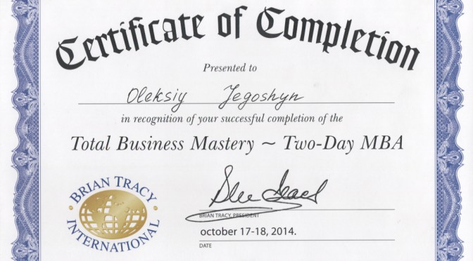 Total Business Mastery — MBA from Brian Tracy